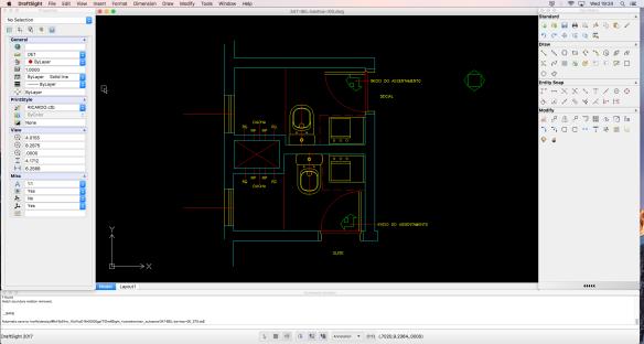 Tela do DraftSight no Mac