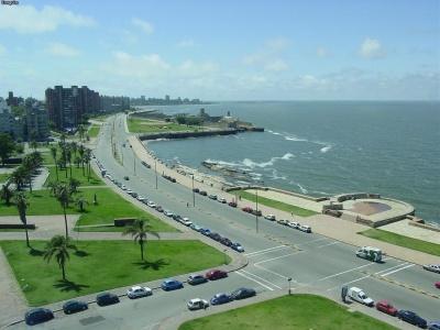 Vista da Rambla a partir do Hotel NH Columbia, Montevideo