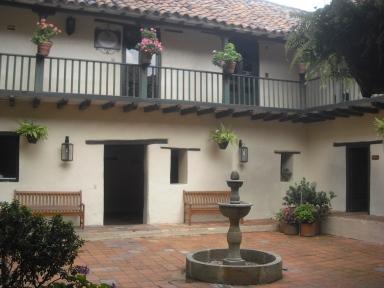 Pátio de casa no centro histórico