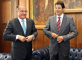 Haddad e Alckmin FOTO: MÁRCIO FERNANDES/ESTADÃO