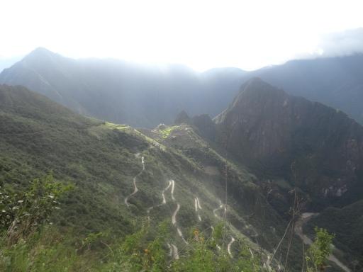 Daqui se entende a implantação de Machu Picchu