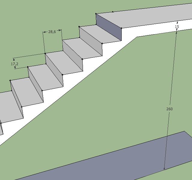 exemplo de escada