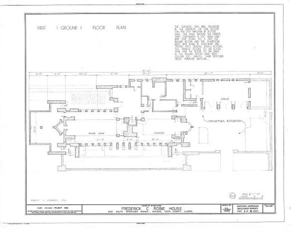 Robie House - imagem de Library of the CongressRobie House - imagem de Library of the Congress