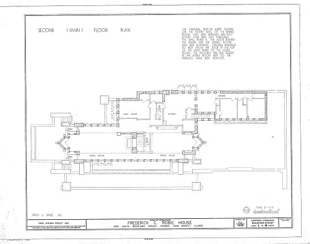 Robie House - imagem de Library of the Congress