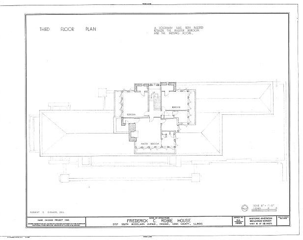 Robie House - imagem de Library of the Congress