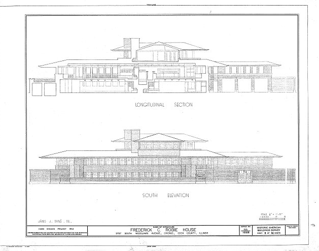 Robie House - imagem da Library of the Congress