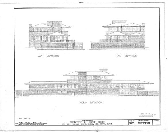 Robie House - imagem da Library of the Congress