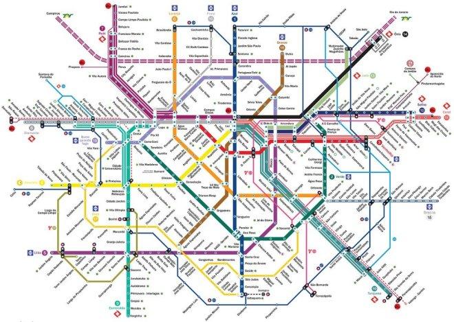 Mapa da Rede Metrô CPTM