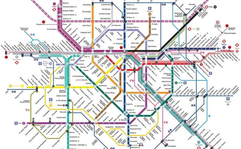 Mapa da futura rede de Metrô de SãoPaulo?