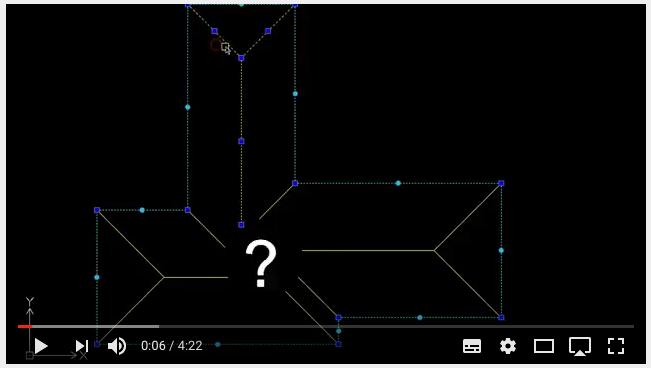 Como desenhar águas de telhados complexos